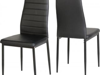 Abbey Chair in Black or White Faux Leather