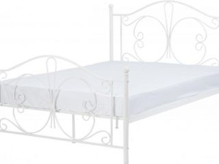 "Annabel 4'6"" Double Bed frame Frame in Silver or white"