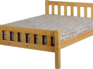 "Carlow 4'6"" Double Bed Frame in Antique Pine"
