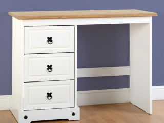 Corona 3 Drawer Dressing Table in Grey or white