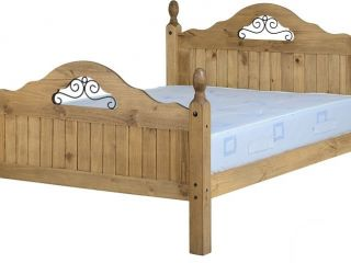 4ft6 Double corona scroll bed frame