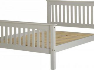Monoco 4ft6 double high foot end bed frame