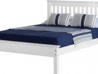 Monoco 4ft6 double low foot end bed frame